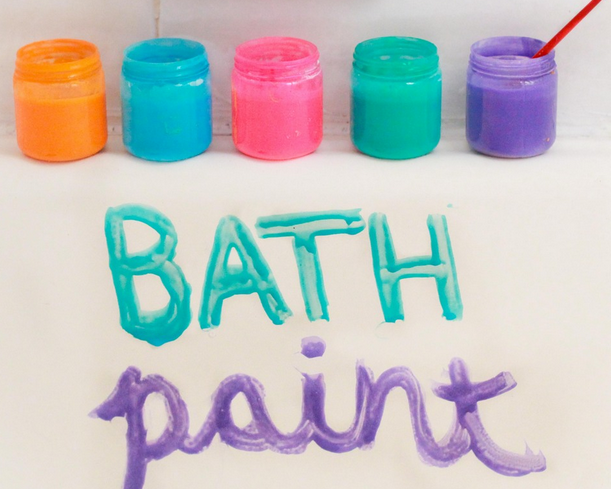 Bath Paint 1 4 Cup Shampoo Or Liquid Soap Corn Starch 2 Tbs Water 3 Drops Food Coloring Combine Cornstarch And