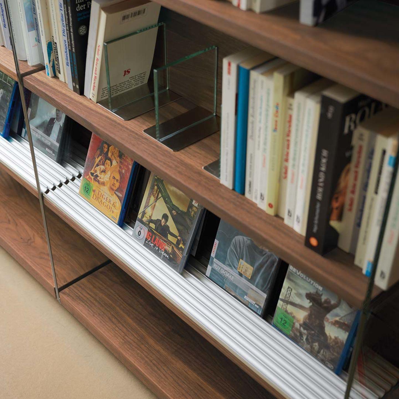 Scaffale cubus in legno naturale con porta CD | Librerie ...