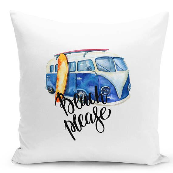 Summer Throw pillow beach accent pillow cover beach house cushion cute decorative pillow cover funny beach please beach lovers pillow