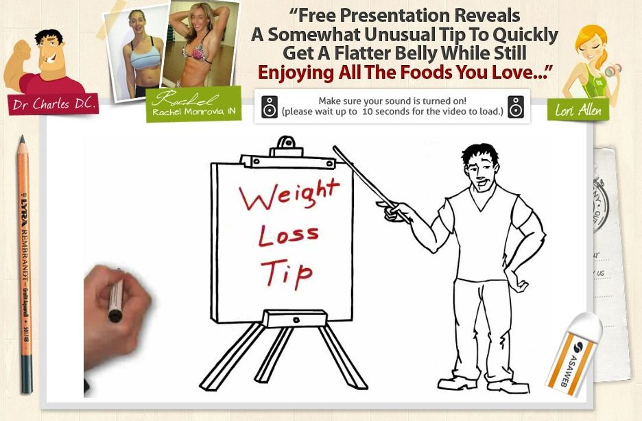 Click the image to learn more. Unusual tip to quickly get a flatter belly while still   enjoying all the food you love. It's great!
