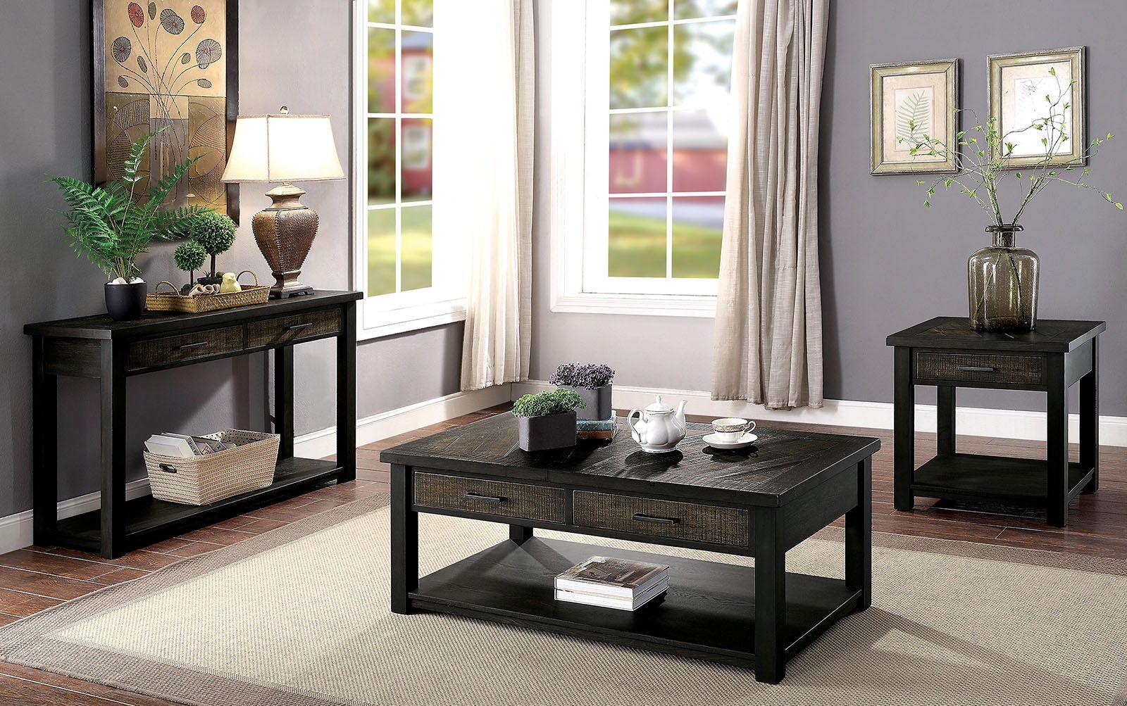 Rhymney Coffee Table Cm4123c Furniture Of America Coffee Tables In 2021 Living Room Table Sets Coffee Table 3 Piece Coffee Table Set [ 1003 x 1600 Pixel ]