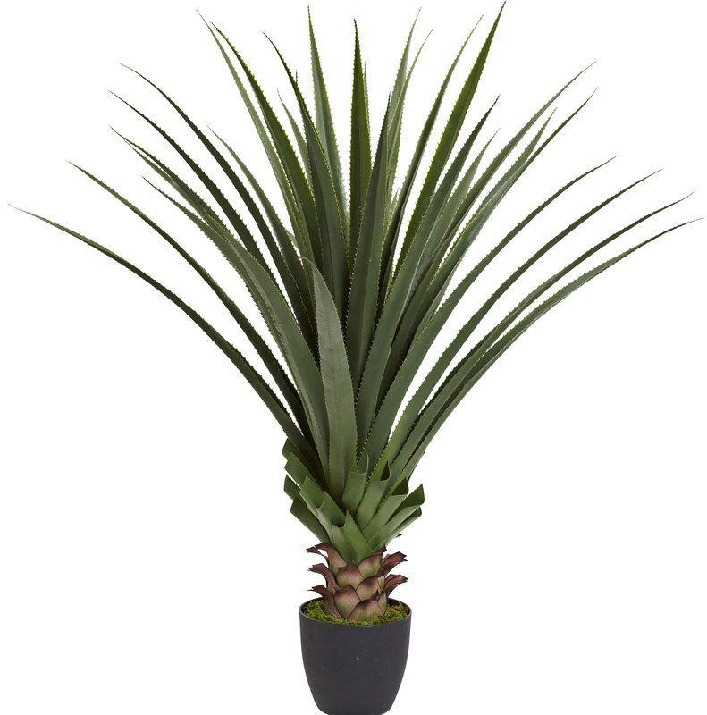 Spiked Agave Floor Plant In Pot With Images Faux Plants Agave Plant Floor Plants