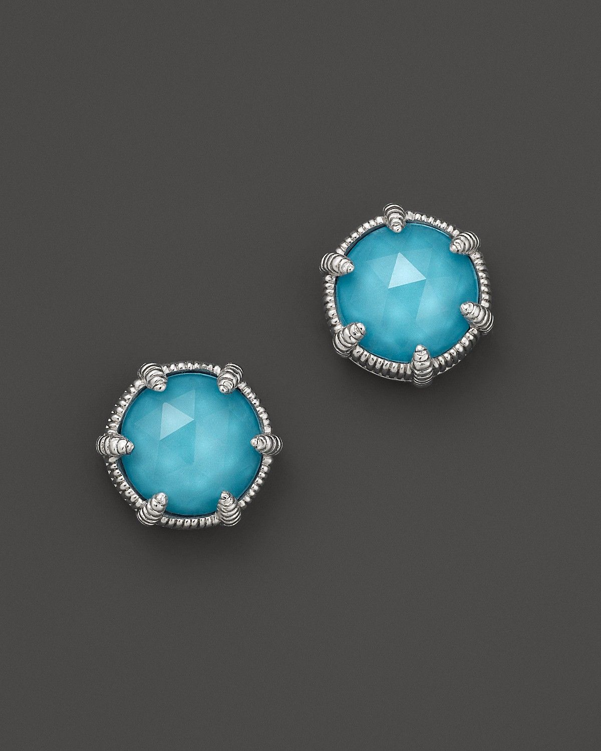 9482d82a8 Judith Ripka Sterling Silver Eclipse Stud Earrings with Turquoise Doublets  | Bloomingdale's