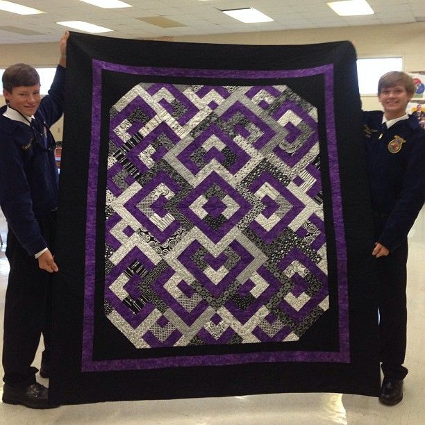 My FFA chapter is raffling off this quilt. I love it and it is going to be hard to hand over on October 18th.