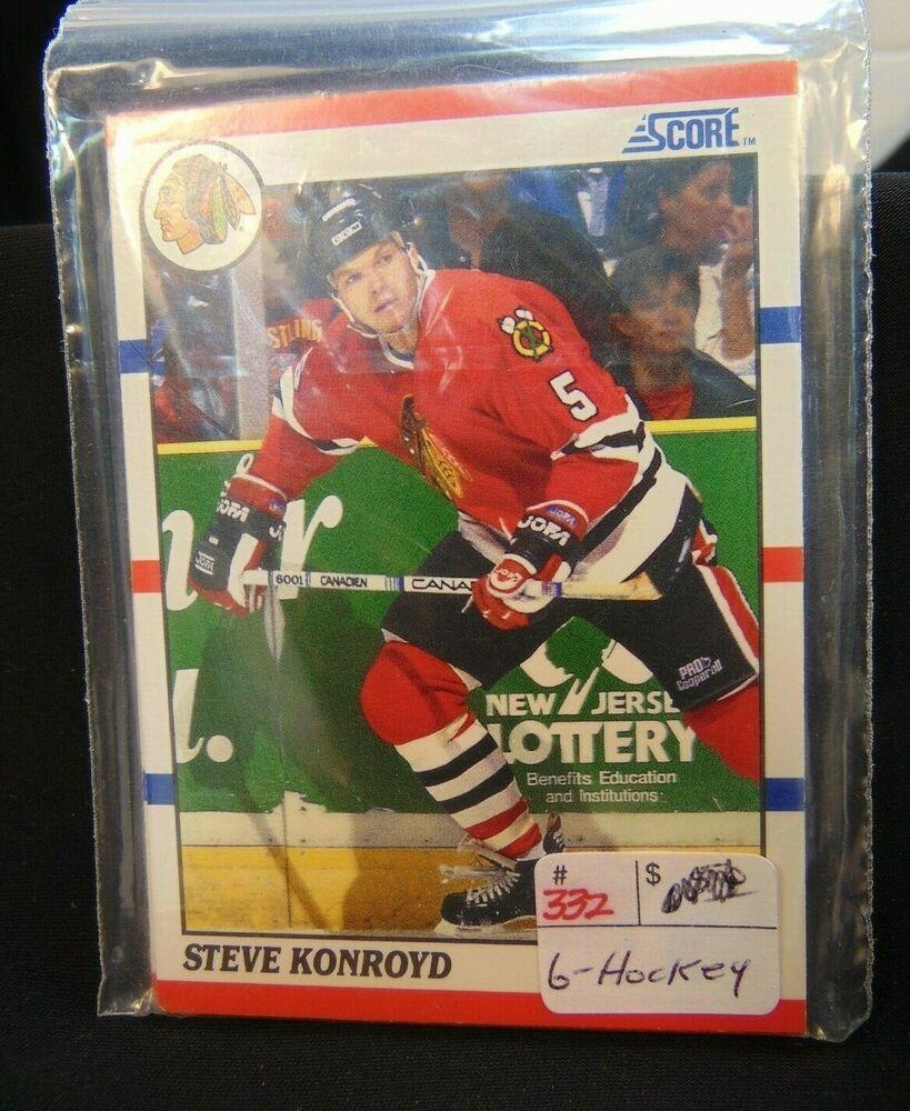 1990 score 6 ice hockey cards national hockey league