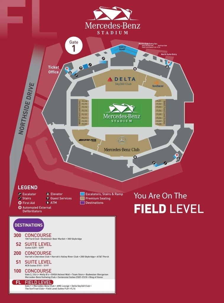Georgia Dome Seating Map : georgia, seating, Elegant, Interesting, Mercedes, Stadium, Seating, Chart, Atlanta, Benz,