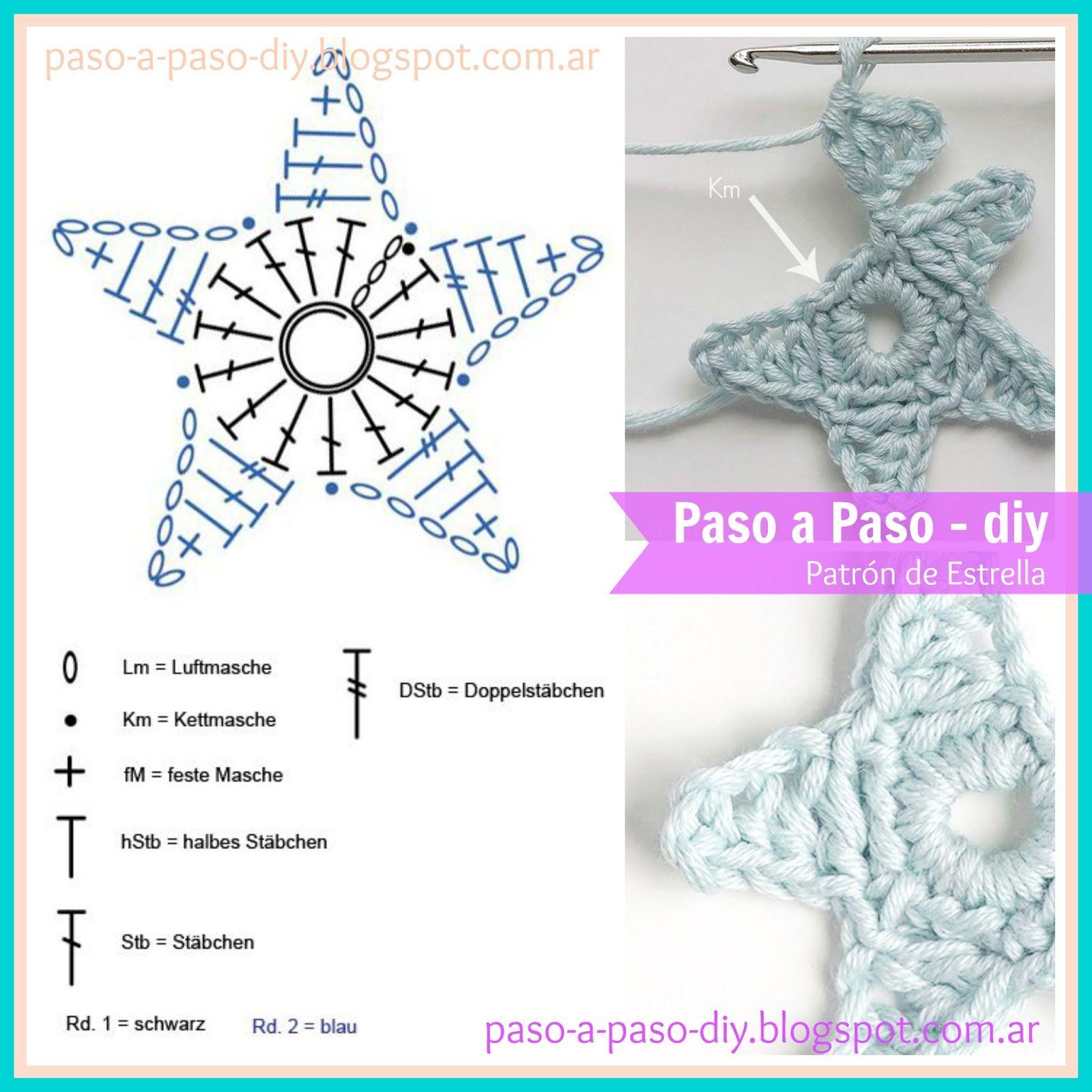 Estrellas al Crochet - DIY - Paso a Paso | Crochet | Pinterest ...