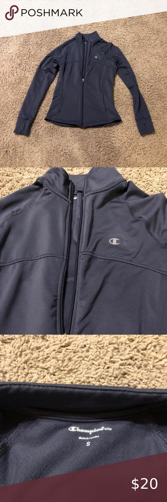 Champion Elite Jacket Small Coats Jackets Women Grey Champion Hoodie Quarter Zip Jacket [ 1740 x 580 Pixel ]
