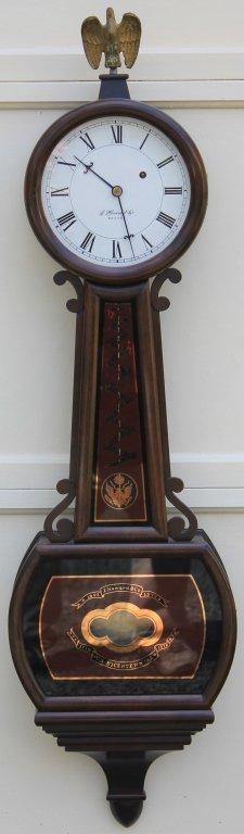 Bicentennial E Howard Presentation Weight Driven Jun 25 2016 Marion Antique Auctions In Ma Reverse Painted Antique Clocks Antique Wall Clock