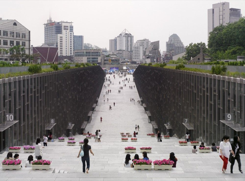 Ewha Womans University South Korea Dominique Perrault Architecture I Would Go To Grad