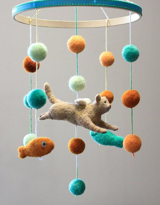 Needle-felted mobiles and custom pet portraits hand crafted in Oregon using all natural wool. Give the best baby shower gift ever or indulge on yourself.
