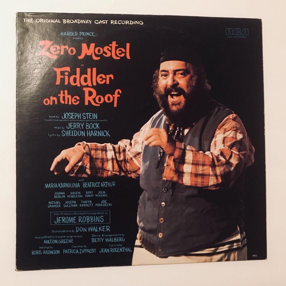 ZERO MOSTEL Fiddler On The Roof Original Broadway Cast