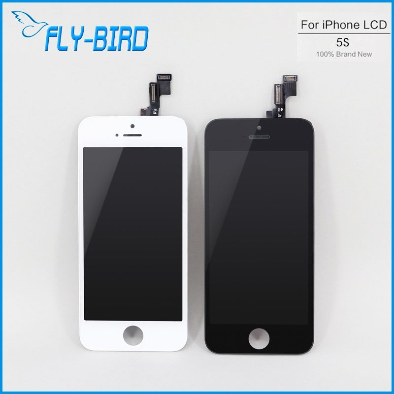 10 stks/partij originele voor iphone 5 s lcd met display touch digitizer 100% getest screen vervanging gratis schip