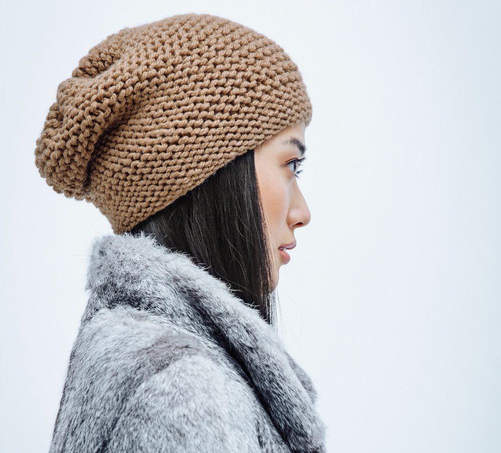 voici un bonnet trendy  u00e0 tricoter vite fait bien fait