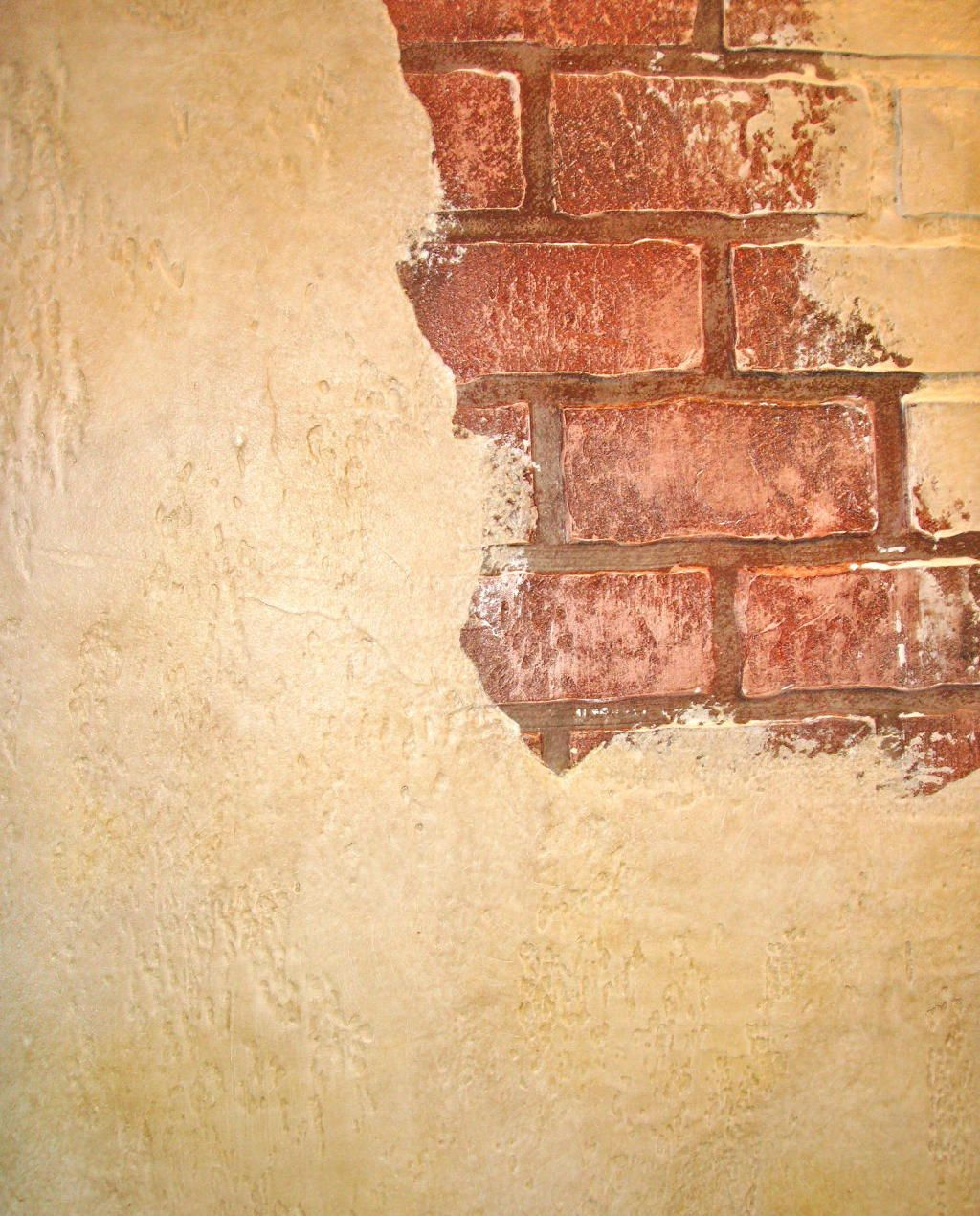 Faux Painting Cracked Walls Old Brick Wall Faux Walls Pinterest Cracked Wall Faux