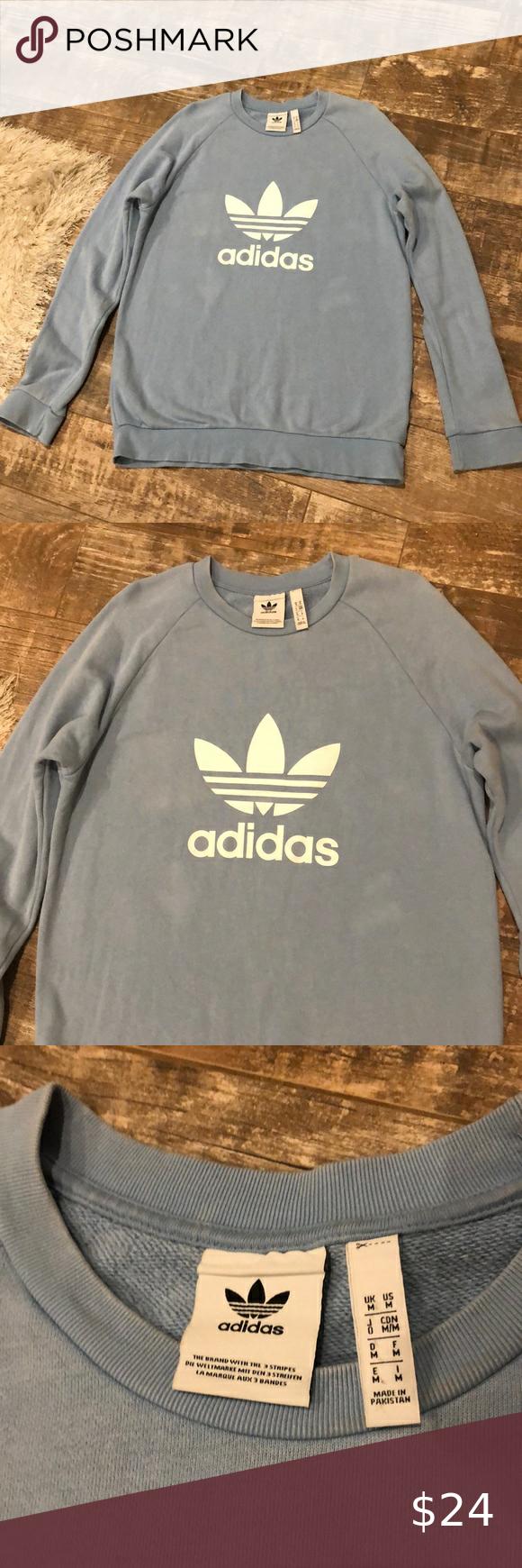 Euc Adidas Sweatshirt Sz M Sweatshirts Adidas Sweatshirt Sweatshirts Hoodie [ 1740 x 580 Pixel ]