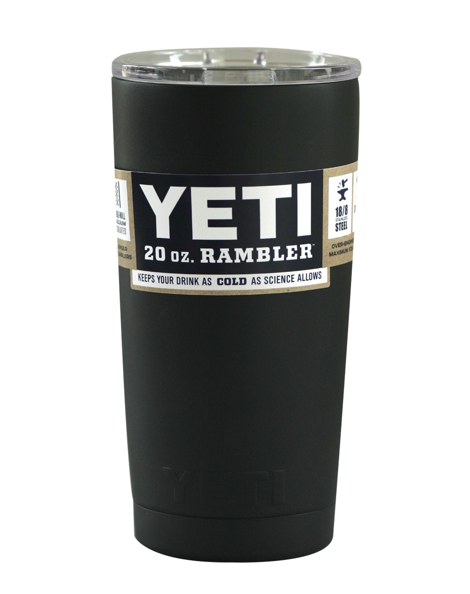 Matte Black YETI 20 oz Rambler Tumbler