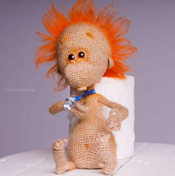 Project by CrochetGift4you. Baby monkey crochet pattern by Pertseva for…