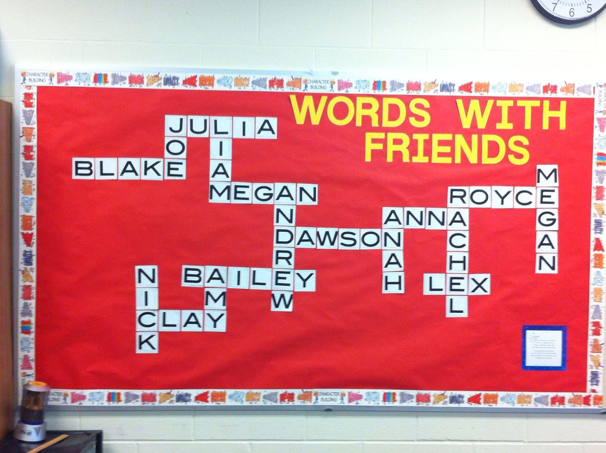 scrabble welcome bulletin board set 6th grade ideas bb