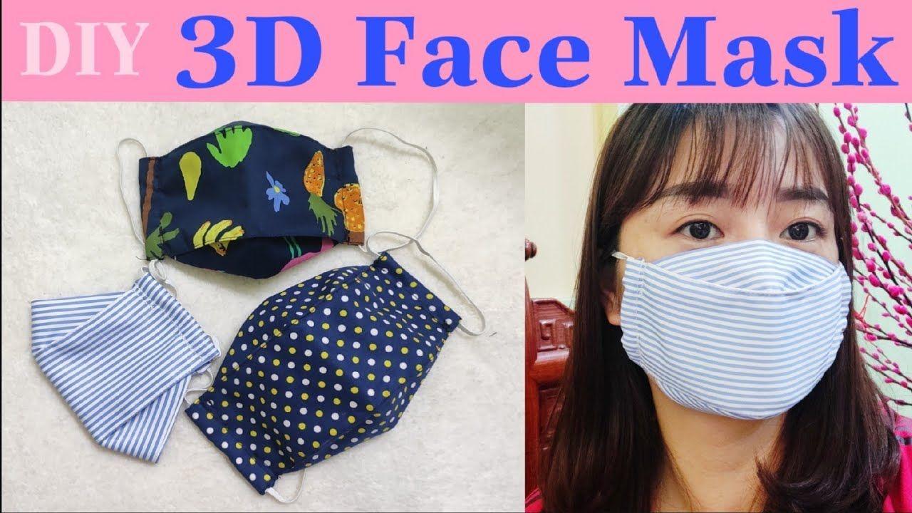 3d Face Mask Diy 마스크 Kf94 Tự May Khẩu Trang đơn Giản Art
