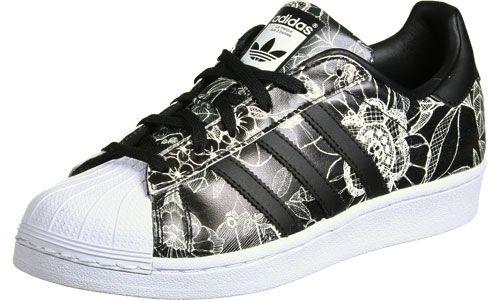 adidas Superstar W schoenen zwart wit | Sneakers mode