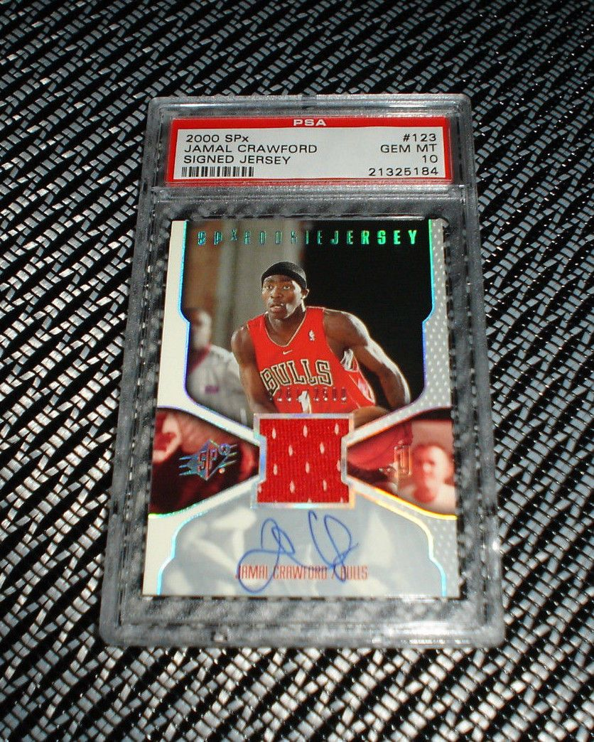 0001 ud spx jamal crawford autograph rc rookie jersey