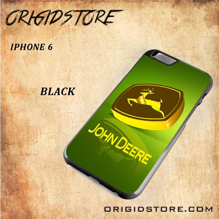 John Deere Logo Gold Green Snap on 2D Black and White Or 3D Suitable With Image For Iphone 6 Case
