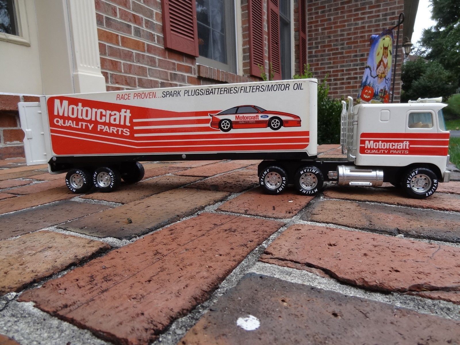 Nylint ford motorcraft parts pressed steel tractor trailer semi ebay
