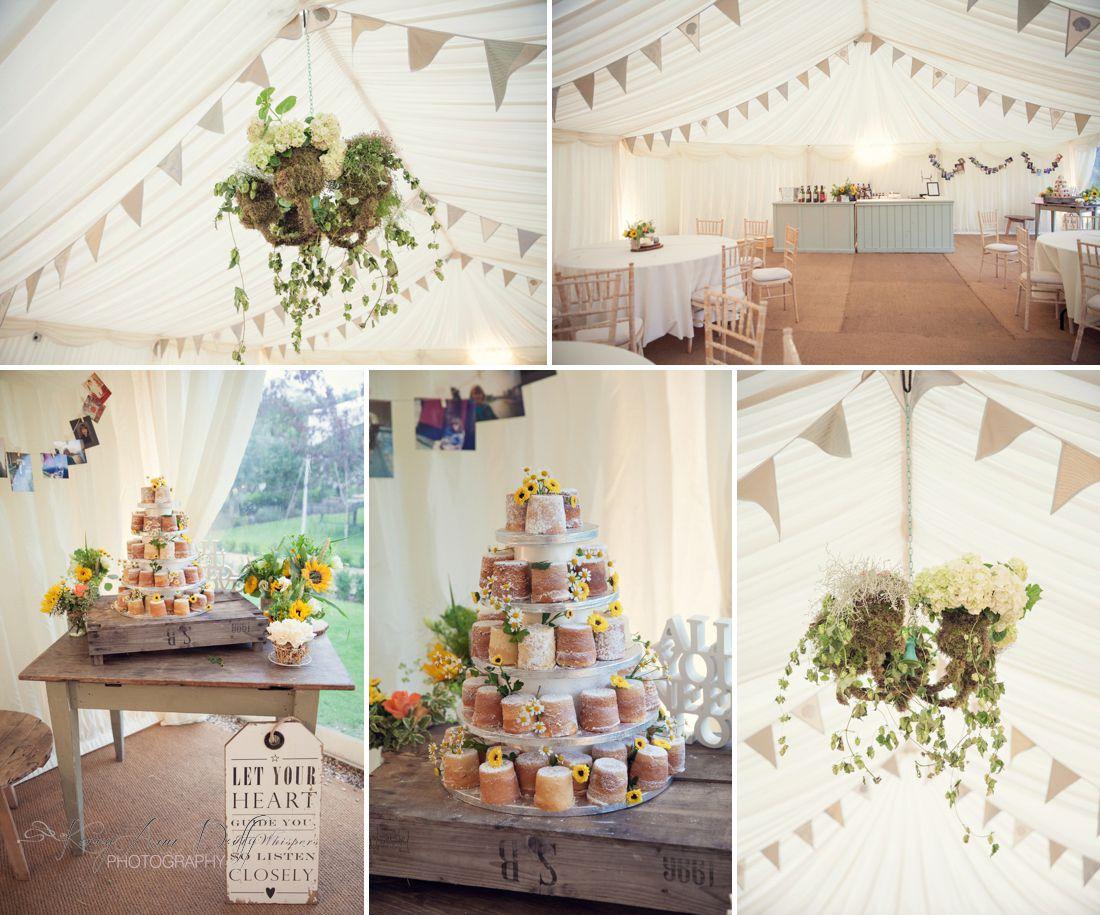 wedding cake bunting secret garden kent, sandcastle wedding cake ...