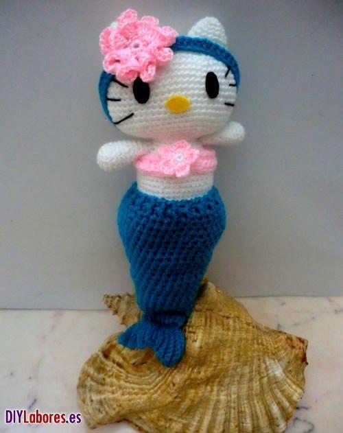 Hello Kitty sirenita en amigurumi | Patrones amigurumi | Pinterest ...