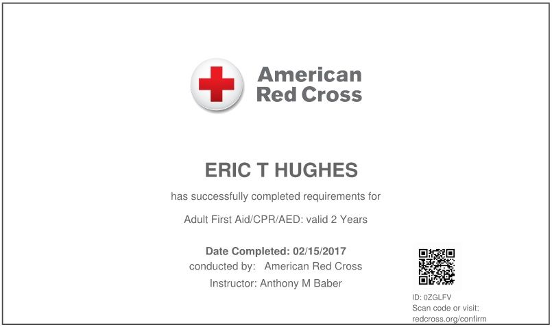 2017 02 15 90 I Am Now Certified For Rendering First Aid Or Cpr Or Aed For Those Age 12 And Up First Aid Cpr American Red Cross First Aid