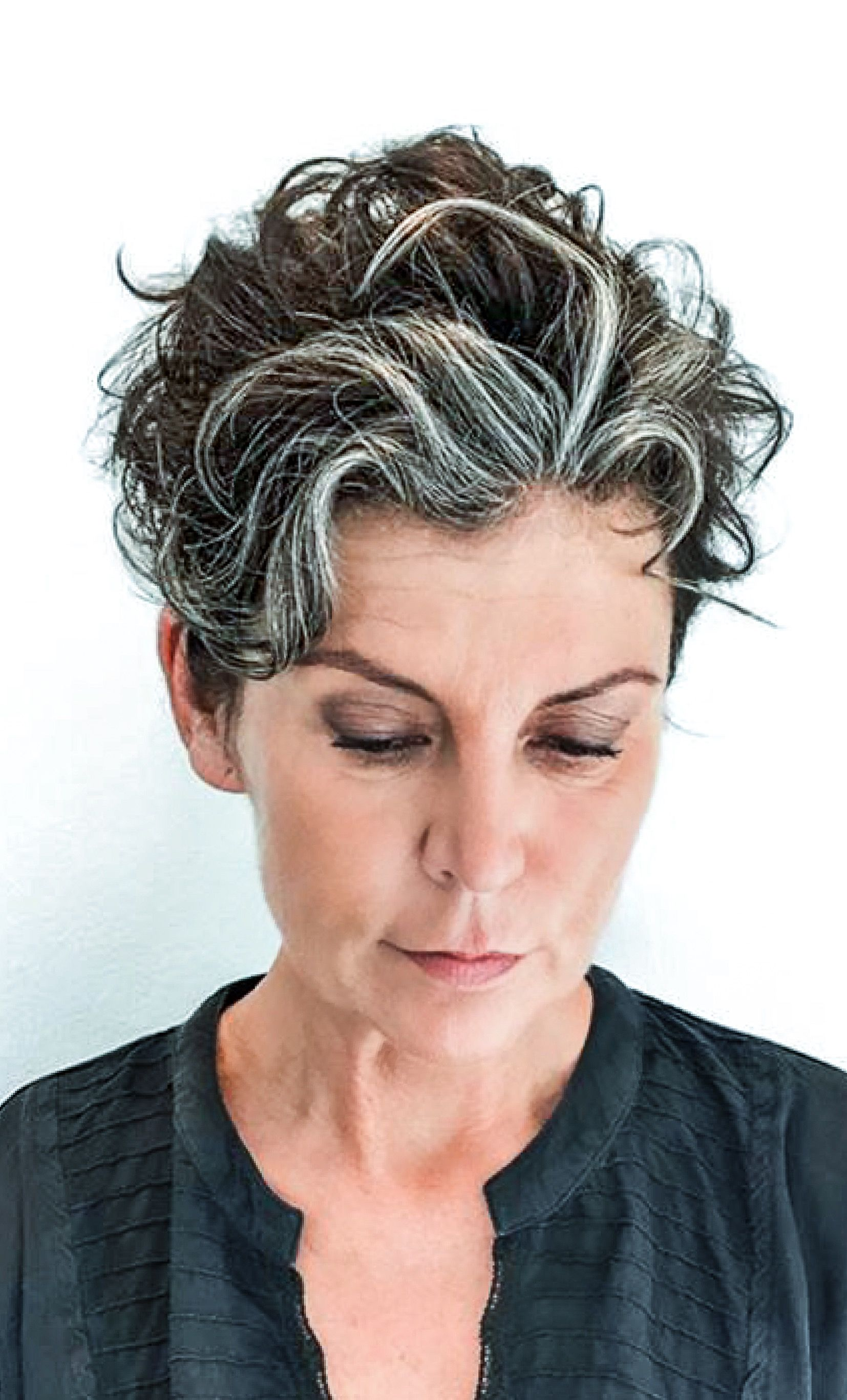 Pin By R K On Grey Grace Hair Styles Silver Hair Curly Hair Styles