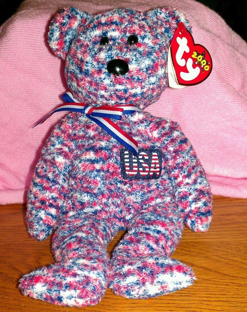 RARE   RETIRED TY BEANIE BABY~USA THE AMERICAN beanie Baby~MINT TAG ... 5e6385e5e9