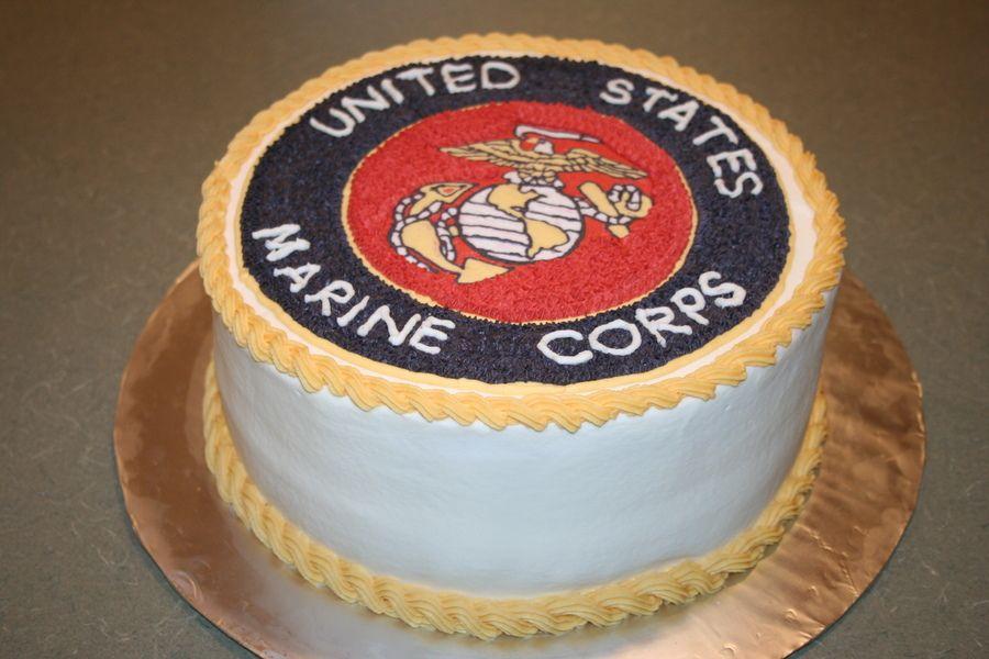 Grooms Marine Corps Cake With Images Cake Marine Cake