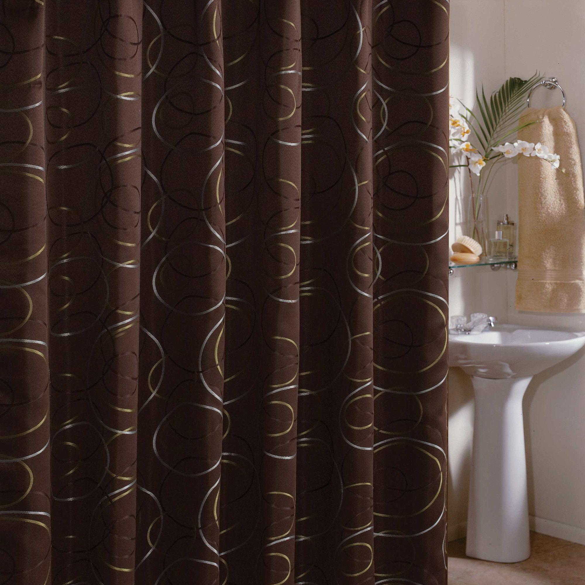 Veratex Eclipse Shower Curtain In Chocolate Wayfair Brown