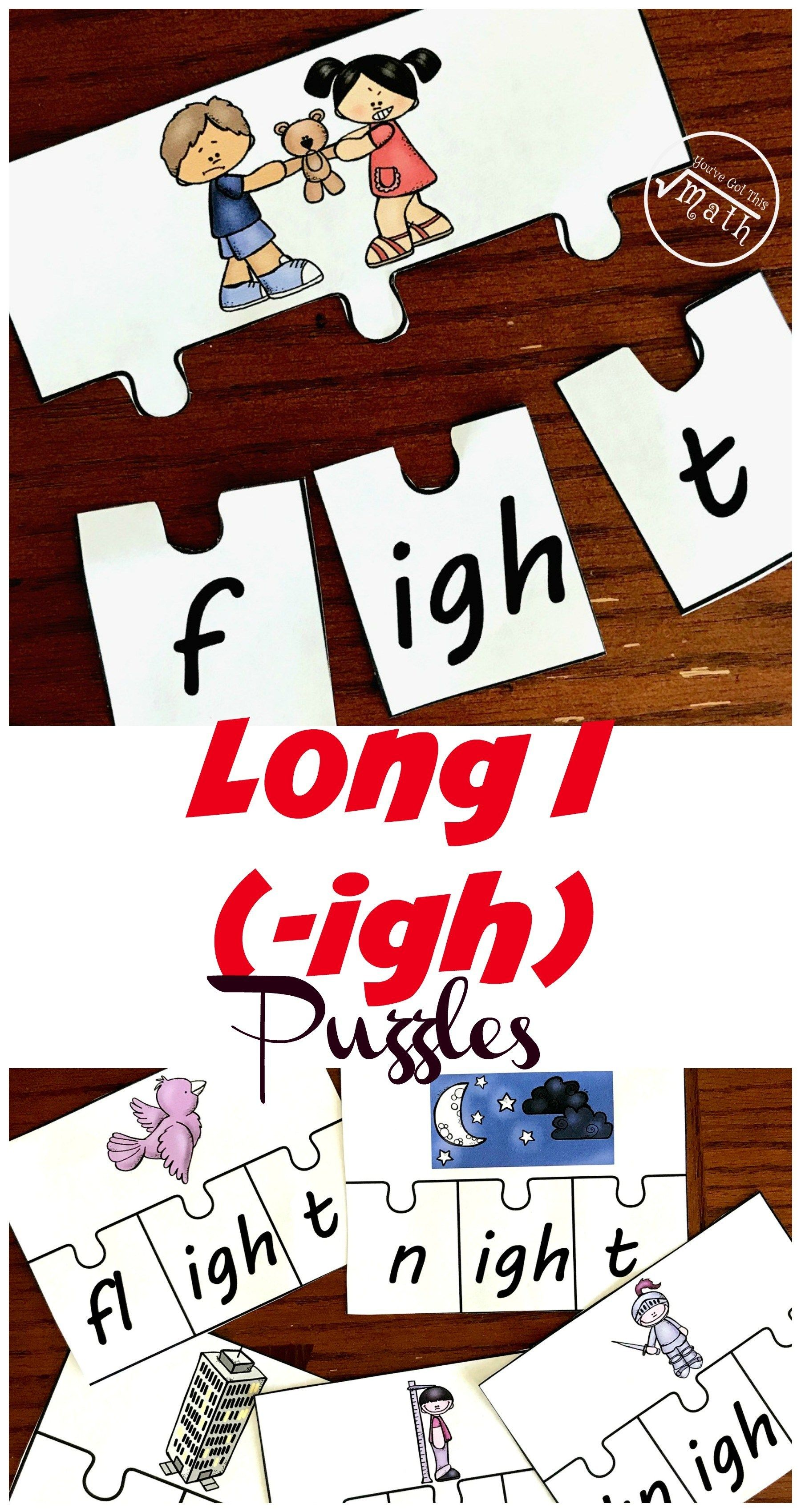 10 Puzzles To Practice Spelling And Reading Igh Words