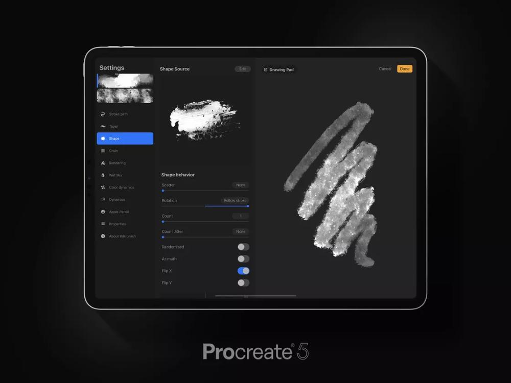 Procreate 5 arrives with brush import, Animation