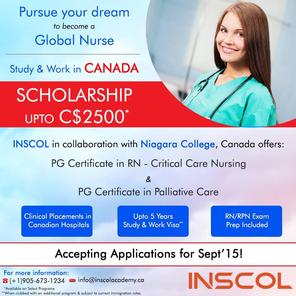 INSCOL, offers Study & Work programs for Nurses in