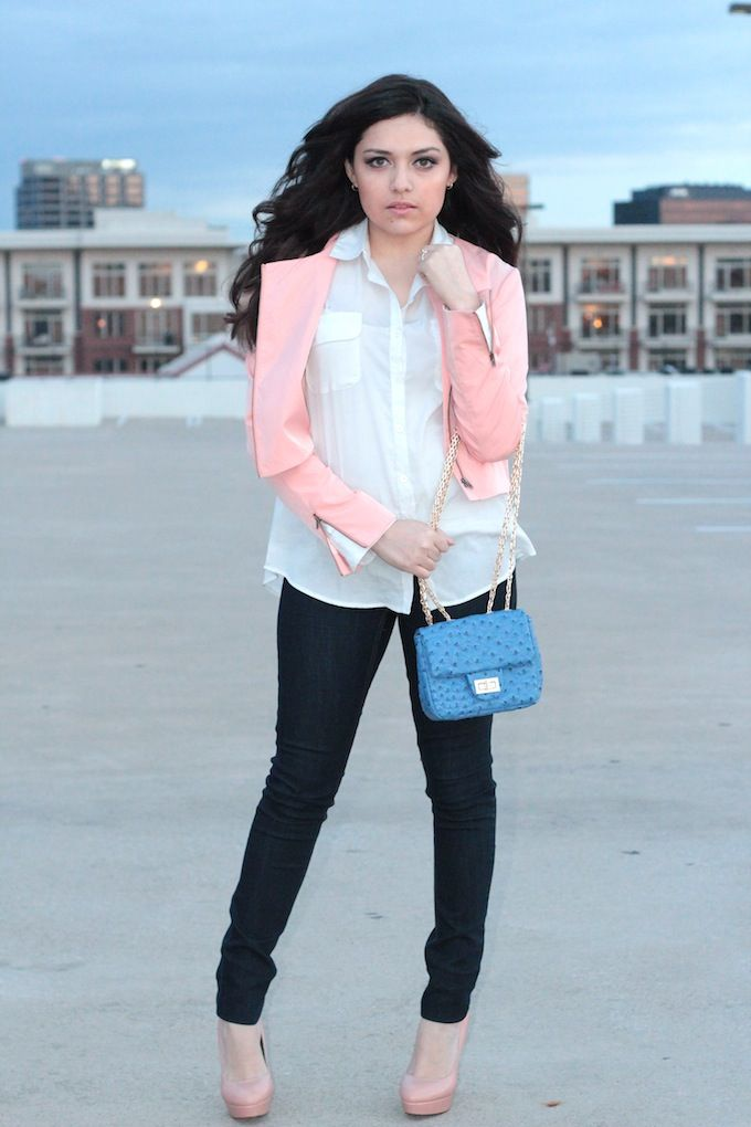 Ashes into Fashion: Finders Keepers peach jacket