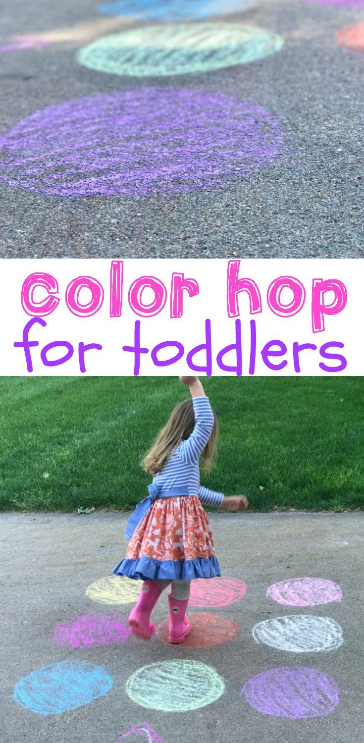 Color Hop for Toddlers | Outside activities | Pinterest | Activities ...