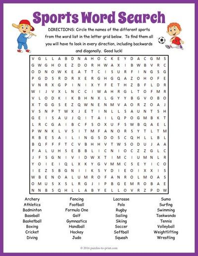 Here is an engaging word search puzzle with 32 sports to look for - sports certificate in pdf