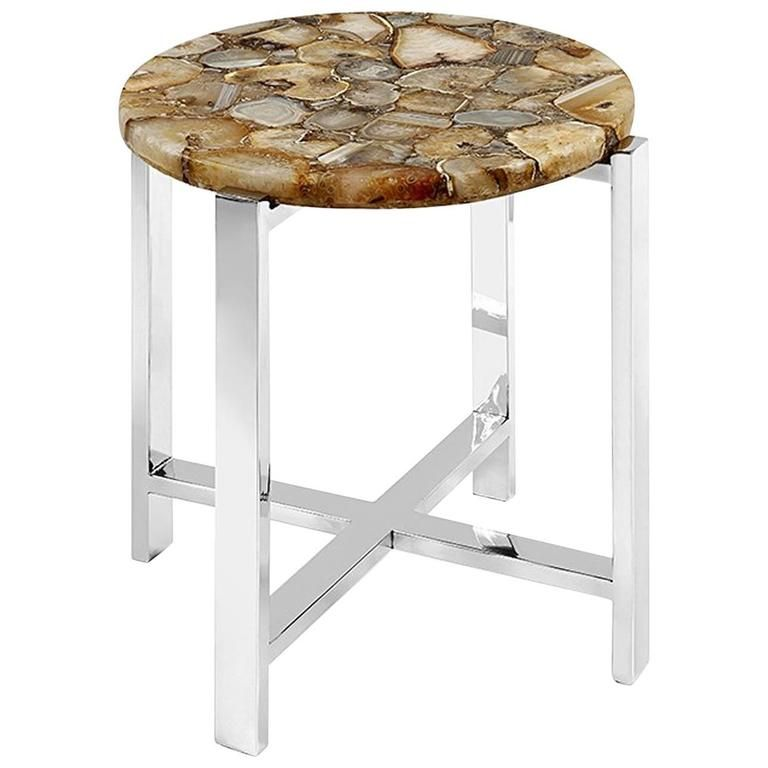 Agate stone side table stone coffee table mosaic coffee