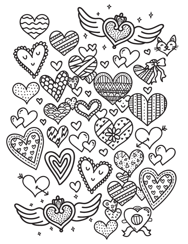 Free Heart Coloring Page Download It At Https Museprintables Com Download Coloring Page Heart Heart Coloring Pages Coloring Pages Doodle Coloring