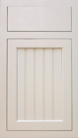 Style 122 Shaker Beadboard Panel Cabinet Door (Pictured With Slab Drawer  Front)