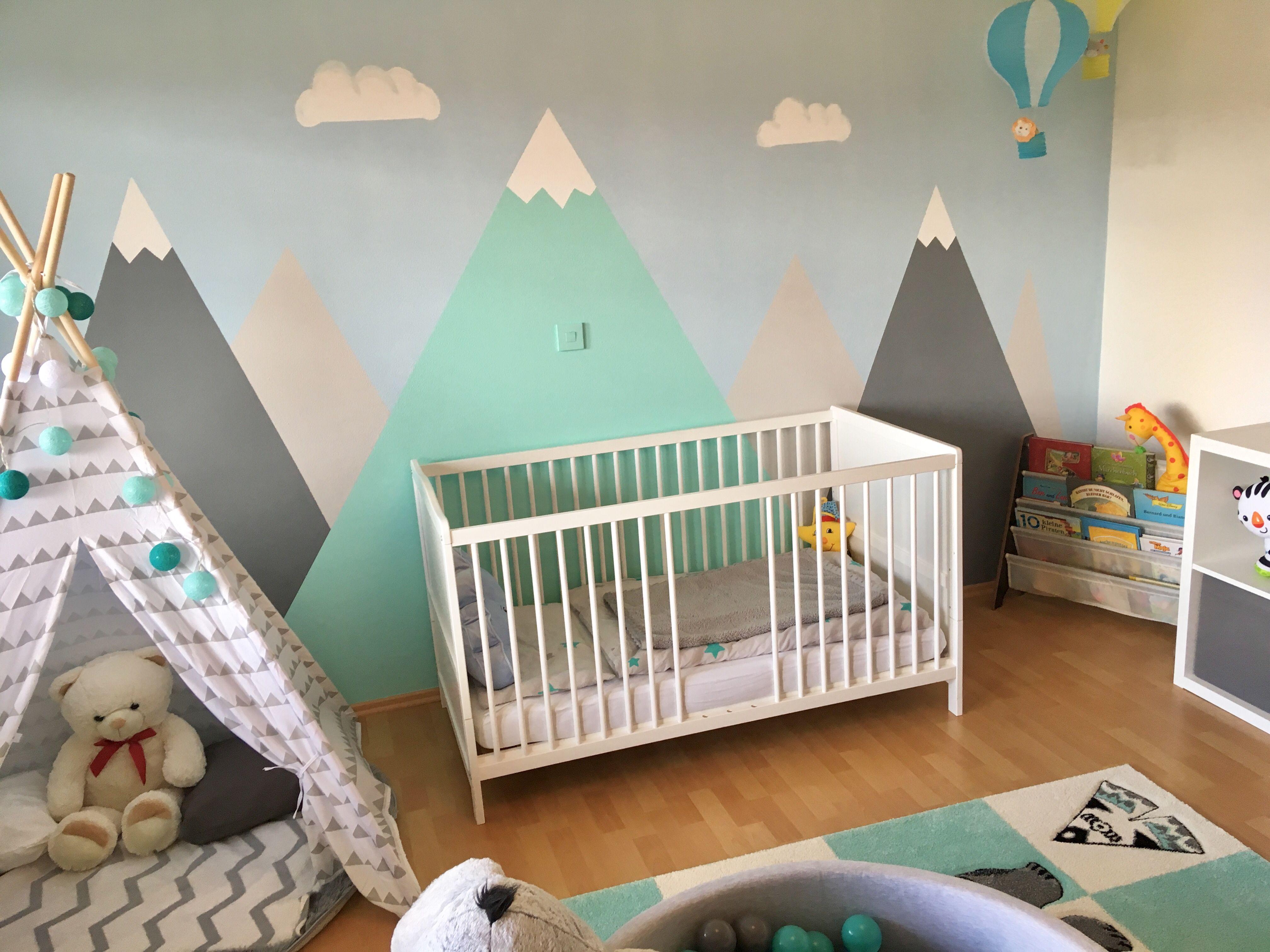 Kinderzimmer Junge Berge Mountains Heißluftballon Tipi Indianer Bällebad Kinder Zimmer Kinder Zimmer Deko Kinderzimmer