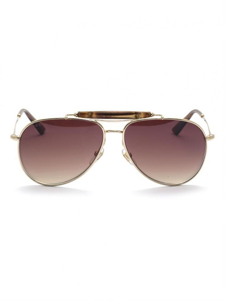 3e458d36365 Gucci Bamboo Aviator-style Sunglasses Buy Gucci