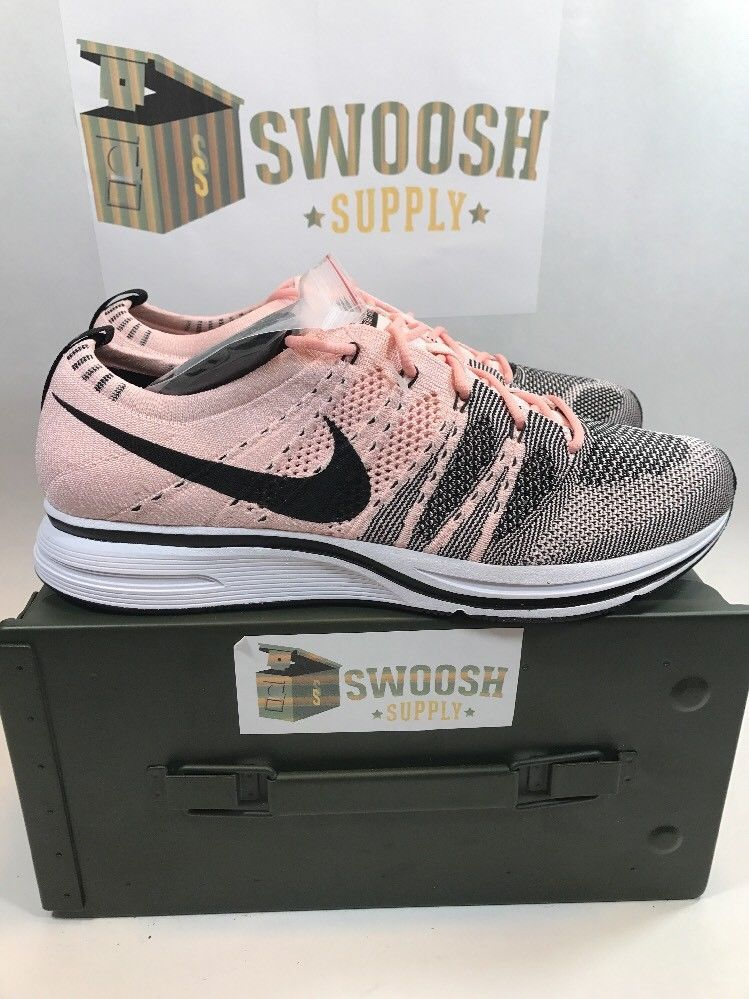new arrivals dad6e 9598f Nike Flyknit Trainer Sunset Tint Size 7 AH8396 600 Sunset Pink Black White  Rare  Nike  AthleticSneakers