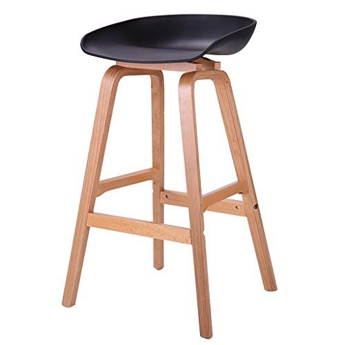 Barstools High Chair Barstools Chair Footrest With Pp Ergonomics Seat Dining Chairs Breakfast Stool For Bar Stools Wood Bar Stools Kitchen Bar Stools