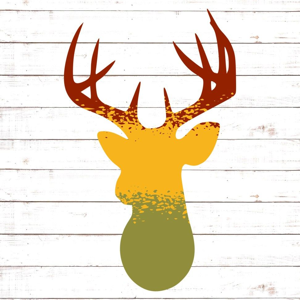 Download Ombre Style Deer SVG | Svg free files, Ombre fashion, Deer