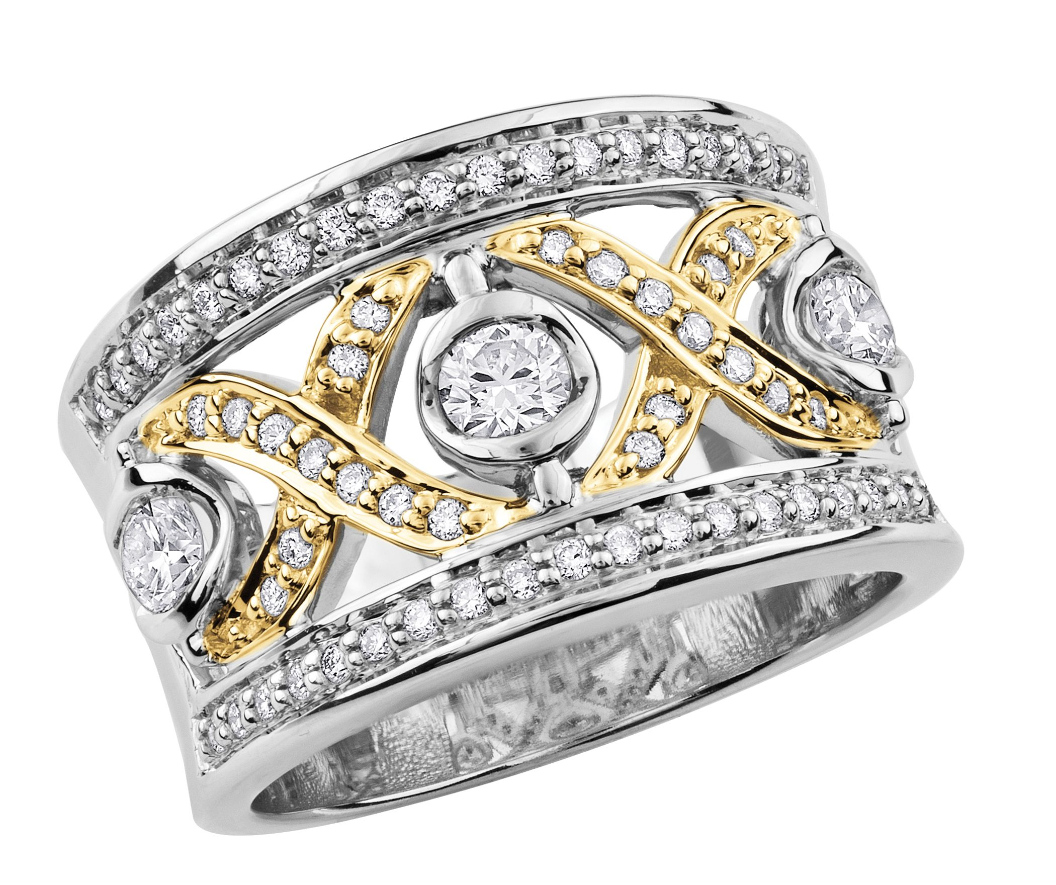 Beautiful right hand ladies ring Diamond anniversary